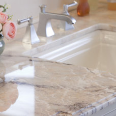 Traditional Bathroom by Marble and Granite, Inc.