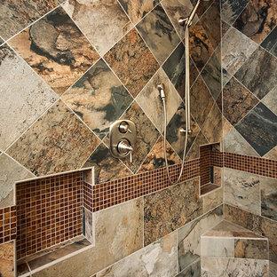 Inspiration for a timeless corner shower remodel in Cincinnati