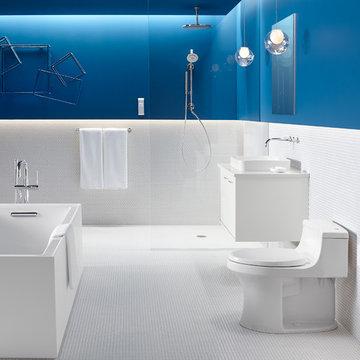 Sleek & Sanitary Bathroom