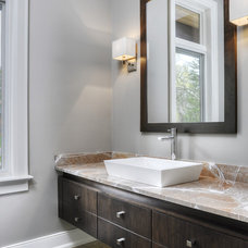 Contemporary Bathroom by Braam's Custom Cabinets