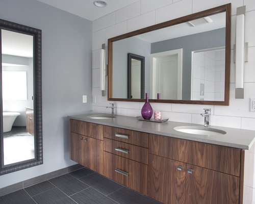 Walnut Vanity Home Design Ideas Pictures Remodel And Decor