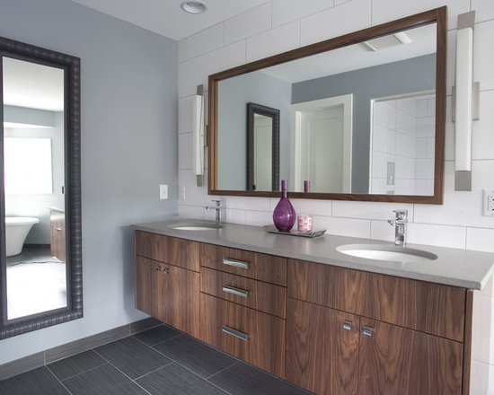 Bathroom Cabinets Walnut walnut vanity | houzz