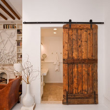 Rustic Bathroom sliding barn door