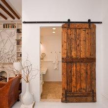 Rustic Bathroom sliding barn door