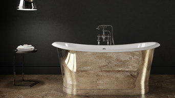 SLIK PORTFOLIO - POLISHED CHROME CAST IRON FREESTANDING BATH