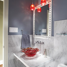 eclectic bathroom by USI Design & Remodeling