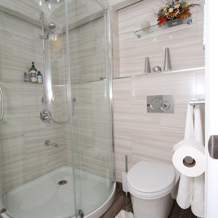 Example of a small minimalist bathroom design in Providence