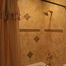 Traditional Bathroom by Bathroom Tile Shower Shelves