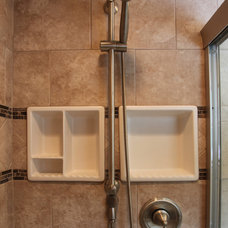 Traditional Bathroom by Bathroom Tile Shower Shelves
