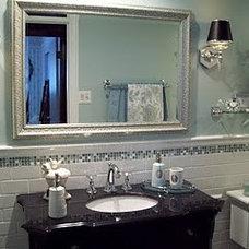 Traditional Bathroom Small Bathroom Makeover - Spa Blue