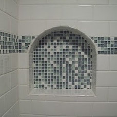 Traditional Bathroom Small Bathroom Makeover - Spa Blue
