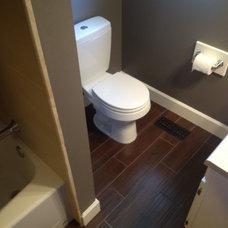 Transitional Bathroom Small Bathroom Remodel