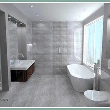 Contemporary Bathroom by BAGNODESIGN Glasgow