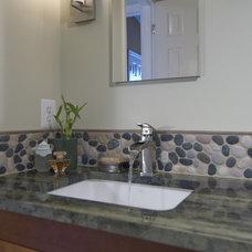 Asian Bathroom by Summit Design Remodeling, LLC