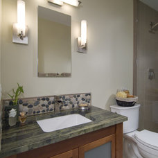 Asian Bathroom by Summit Design Remodeling, LLC