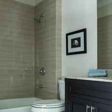 Modern Bathroom by JL Designs & Interiors LLC
