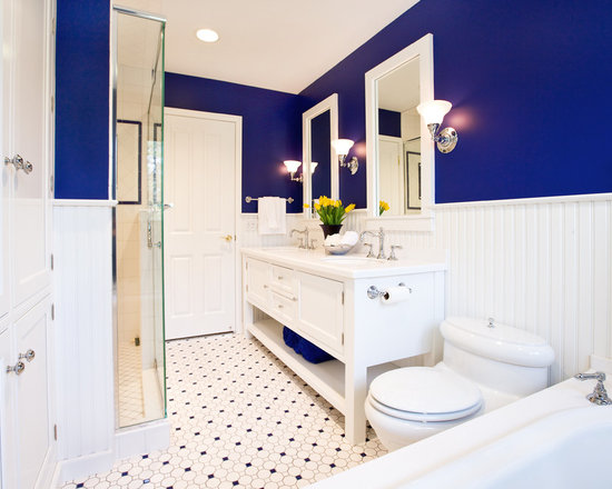 Bathroom Tiles Blue And White blue and white bathroom | houzz