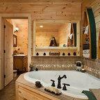 Texas In Tahoe Quot Austin Cabin Quot Rustic Bathroom