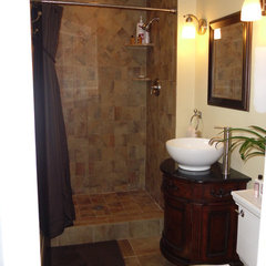 traditional bathroom Small master bath remodel