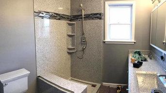Small Master Bath Shower Enclosure