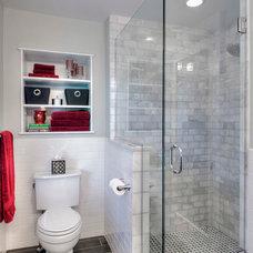 Traditional Bathroom by Courtney Burnett