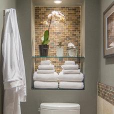 Contemporary Bathroom by Halcyon Design Inc