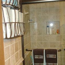 Mediterranean Bathroom Small Space, Big Style