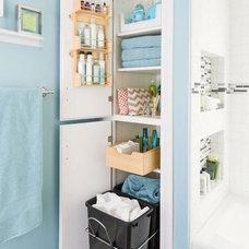 Beach Style Bathroom by SEK-Residential Organization & Project Design LLC