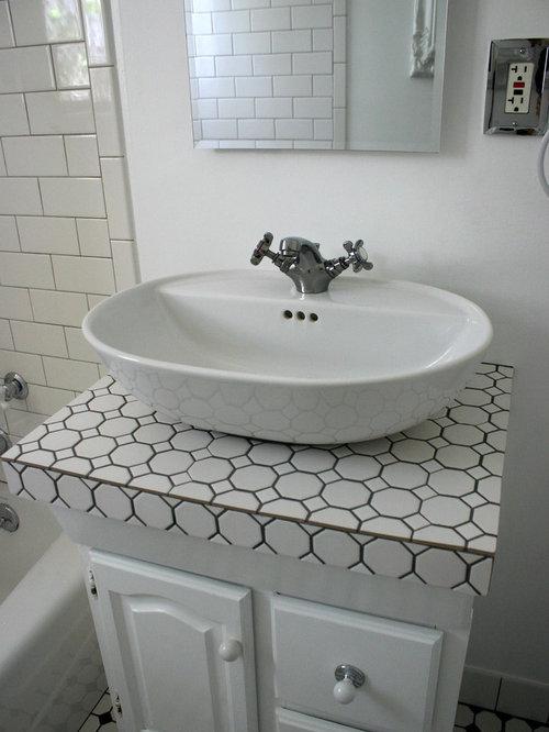 Westside L.A. Janice McCarty Design Small White Tiled Baths U0026 Studio Kitchen .