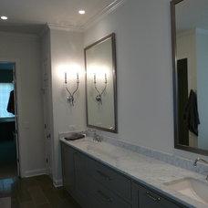 Eclectic Bathroom by Keystone Millworks Inc