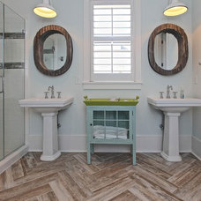Beach Style Bathroom by Southeastern Custom Homes