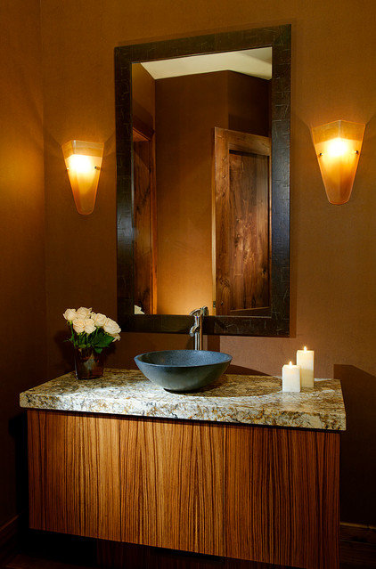 Transitional Bathroom by Anne Grice Interiors
