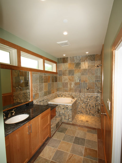 Soaking tub and shower home design ideas pictures for Custom tubs and showers