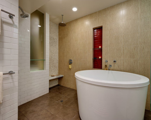 Our 50 Best Red Tile Bathroom Ideas & Photos | Houzz