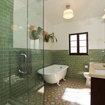 Sofia Provides a Colorful Ground for an LA Bathroom