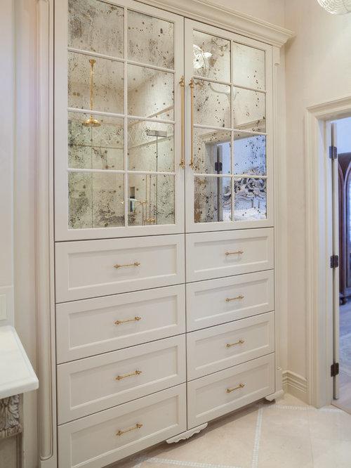 Mirrored Linen Cabinet   Houzz