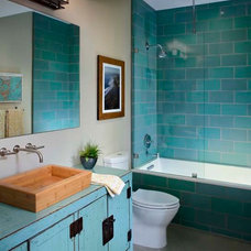 Eclectic Bathroom by KW Designs