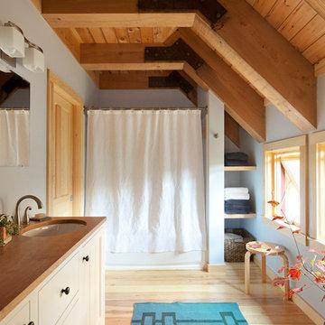 Solar Barn - Contemporary Bathroom Design
