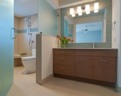 Tile behind vanity design ideas amp remodel pictures houzz