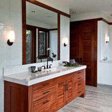 Tropical Bathroom by Matthew M. Graves, AIA