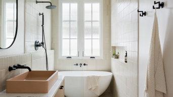 Somers Highland Park Earthy Modern Master Bathroom