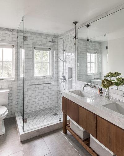 Farmhouse Bathroom by Jennifer Tulley Architects