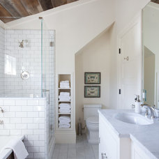 Farmhouse Bathroom by Peter Lyons Photography
