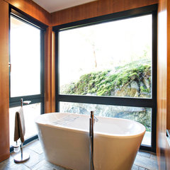 contemporary bathroom by Gaulhofer Windows