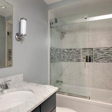 Sophisticated Carrara bathroom