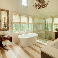 Transitional Bathroom by S. B. Long Interiors