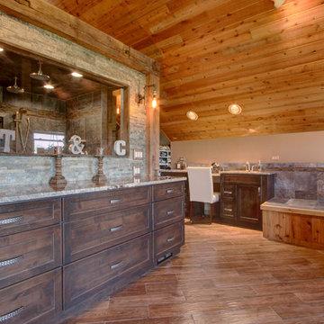 Sophisticated Rustic Bath