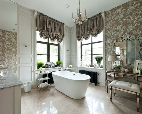 traditional master bathroom design ideas remodels amp photos with brown - Site Travertin Ba