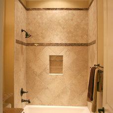 Mediterranean Bathroom by Sprague Construction