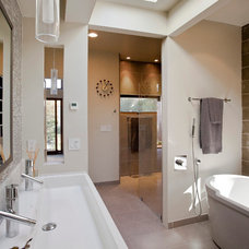 Traditional Bathroom by Elevation Architects